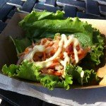 The Lettuce Wrap with Roast Pork and Kimchi Slaw from the South Korea marketplace.