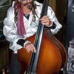 Marvin Ray Hawkins of Slip and the Spinouts plunders his stand-up bass. (Atomic Grog photo)