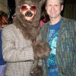 Hurricane Hayward of The Atomic Grog (right) and a furry friend (Mai-Kai manager Kern Mattei). (Atomic Grog photo)