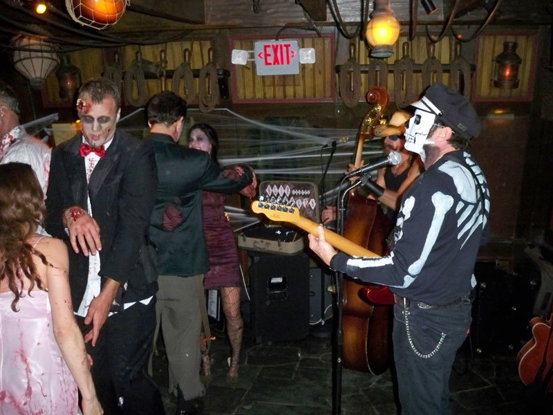 Slip and the Spinouts get the Zombie Wedding Party and other living dead guests moving on the dance floor. (Atomic Grog photo)