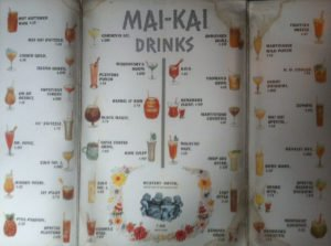 A well-worn 1966 Mai-Kai cocktail menu.