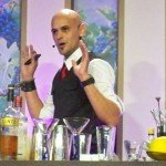 Freddy Diaz of AlambiQ Mixology in Miami begins his cocktail seminar at the Epcot International Food and Wine Festival in October 2012