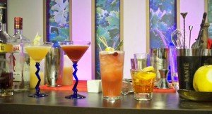 Xanté Pear Sidecar, Blood Orange & Sand, Singapore Sling, and Xanté Old Fashioned