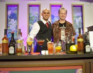 Hurricane Hayward meets up with Freddy Diaz at the end of his Epcot International Food and Wine Festival seminar for the Peter F. Heering Co. in October 2012