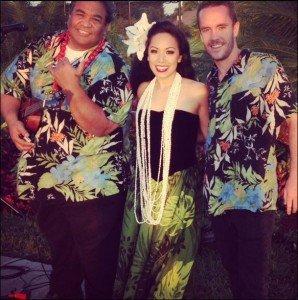 Ty (left) and Andrew with fellow Mai-Kai Islander Hokulani
