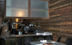 A view from the front door toward the bar at Hullabaloo while it was still under construction 10 days before opening