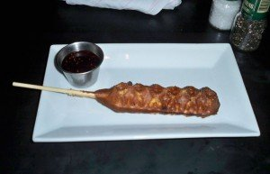 Dada's menu features such creative items as the Pork Belly Waffle Dog
