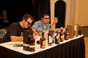 A tasting event at the 2012 Miami Rum Renaissance Festival