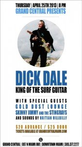 Dick Dale  at Grand Central on April 25