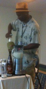 Ian Burrell demonstrates the finer points of making a Pina Colada at last year's Miami Rum Renaissance Festival