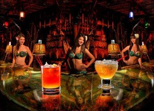 The Mai-Kai's Molokai Girls show off some of the restaurant's amazing tropical drinks