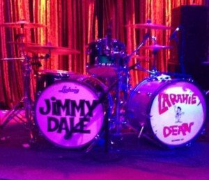 Jimmy Dale's double-bass kit for his tour with Laramie Dean