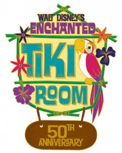 Walt Disney's Enchanted Tiki Room commemorative pin artwork