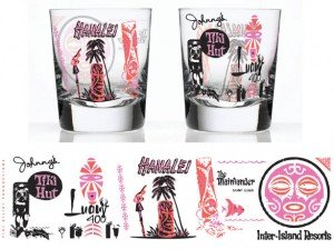 Tiki History Glasses (pink/orange) from The Hukilau