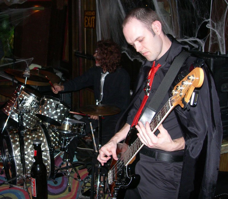 Count Garrett and Wolfman Chris jam during one of the Stingrays sets