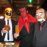 Los Hurricane Hayward, Skinny Satan and the Evil Clown enjoy The Mai-Kai's famous tropical cocktails
