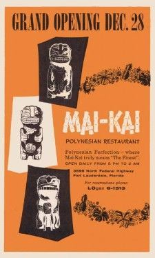 An ad touting The Mai-Kai's opening in 1956
