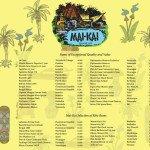 The Mai-Kai's 2014 rum menu