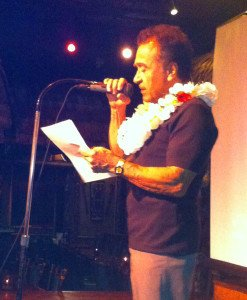 Angel Vega speaks at a ceremony honoring his 50 years of service at The Mai-Kai on Dec. 28, 2013