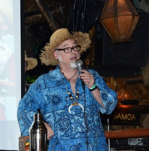 "Jeff ""Beachbum"" Berry during a symposium at The Mai-Kai during The Hukilau in June 2013"