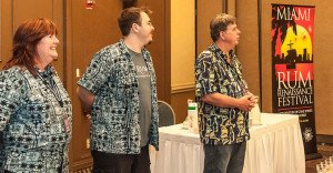 Organizers Robin Burr (left), Robert V. Burr and Robert A. Burr at the 2013 festival
