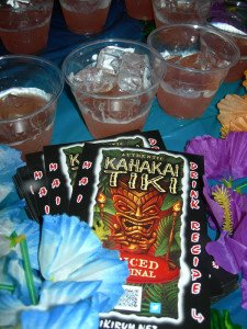 Kahakai Tiki had a booth at The Hukilau in June 2013, where they introduced the Kahakai Tiki Swizzle