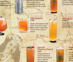 The Tiki Swizzle is a new drink on The Mai-Kai's redesigned cocktail menu
