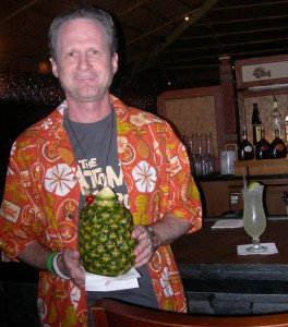 Hurricane Hayward enjoys a Lapu Lapu at the Tambu Lounge in December 2013