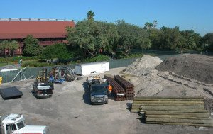 DVC construction at the Polynesian Resort, as seen from the monorail