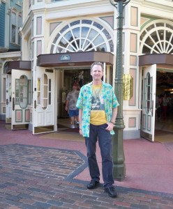 At the former site of West Center Street in the Magic Kingdom, Hurricane Hayward locates his 1972 photo spot in December 2012