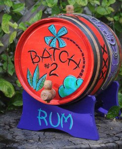 A barrel of small-batch rum at Dada in Delray Beach