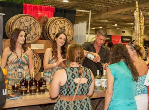 Guests sample rums at a Grand Tasting booth