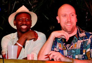 Ian Burrell (left) and Martin Cate at The Hukilau in Fort Lauderdale in June 2011. Both received Spirited Award nominations in 2016. (Photo by Go11Events.com)