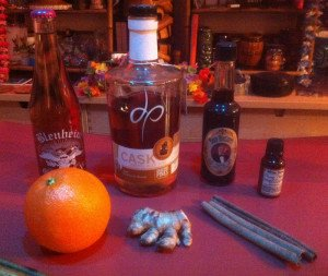 Simple yet esoteric ingredients go into the Ginger Grant