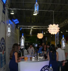 Rum was seemingly falling from the sky at the Brugal Rum booth at Saturday's Grand Tasting event