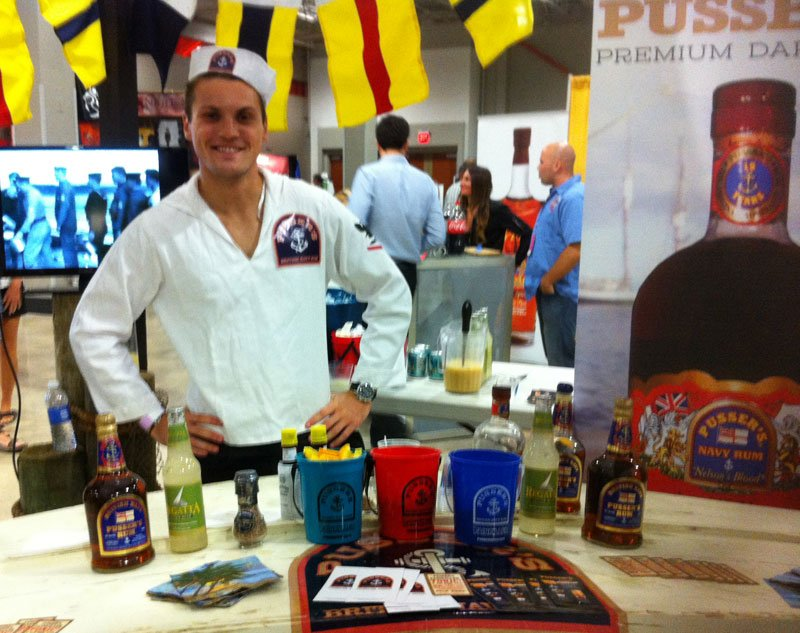 Pusser's won two awards for its venerable rum and was a welcome addition to the festival