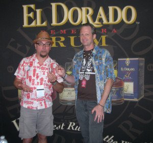 Otto von Stroheim and Hurricane Hayward agree: El Dorado 21, a premium Demerara rum from Guyana, was the best sip of the festival