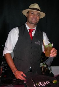 Festival guests are greeted with fresh Mojitos at the Ron Abuelo Rum booth