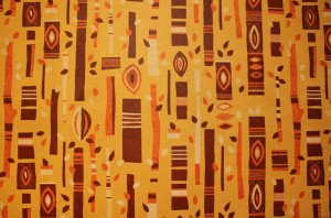 The wallpaper at Trader Sam's in Disneyland is based on a vintage pattern from the Polynesian Village Resort at Disney World