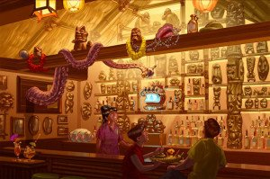 A rendering provided by Disney World shows Trader Sam's Grog Grotto as it may appear at Disney World when it opens in 2015