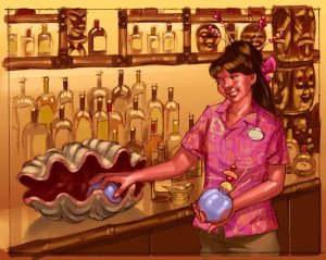 A rendering provided by Disney World shows Trader Sam's Grog Grotto and what perhaps will be a new interactive drink experience