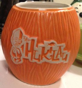 A photo of the the 2014 Coco Mug still in production
