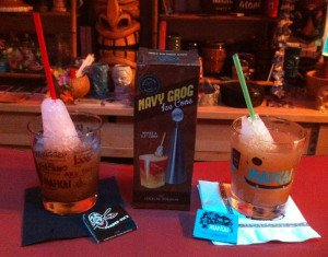 The Trader Vic's version of the Navy Grog (left) and a tribute to The Mai-Kai's Yeoman's Grog.
