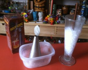 Is Beachbum Berry's Navy Grog Ice Cone Kit superior to the old method using a pilsner glass?