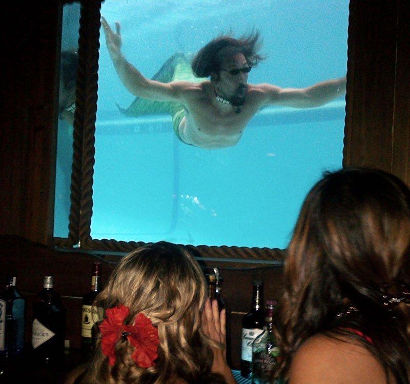 A merman (Crazy Al Evans) makes a special appearance