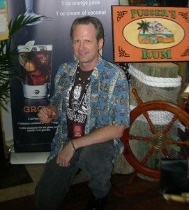 Hurricane Hayward samples some Pusser's Navy Rum at the 2014 Miami Rum Festival