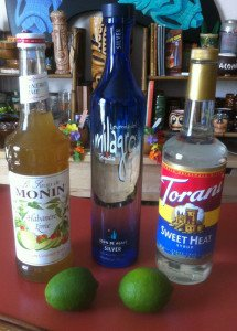 The simple ingredients for a spicy tequila cocktail party