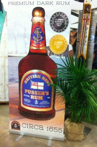 A Pusser's Rum display at the 2014 Miami Rum Festival