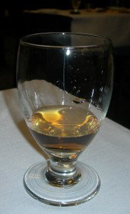 A sample of Paul McFadyen's Navy Rum blend during his seminar at the Miami Rum Festival in April 2013