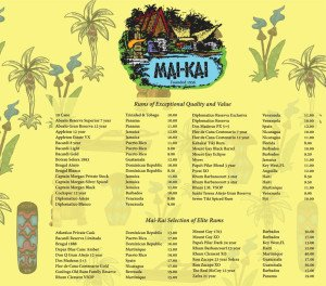 The Mai-Kai's new rum menu